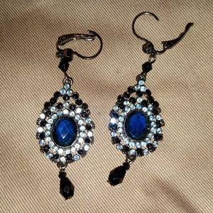 Avon rhinestone drop earrings